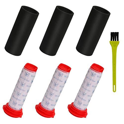 LINGSFIRE Lot de 3 filtres de rechange pour Bosch Athlet, 3 filtres principaux + 3 filtres athlet en mousse pour aspirateur sans fil Bosch BCH61840GB, BCH51830GB, BCH6PETGB, BCH625KTGB