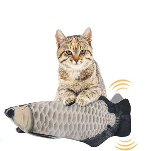 EKKONG Spielzeug mit Katzenminze, Elektrische Fische Katze, Katze Interaktive Spielzeug, Simulation Plush Fisch, Kissen Kauen Spielzeug für Katze für Katze, Kitty (Type C)