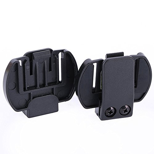 Amazingbuy - 2 Pcs Vnetphone V6 V4 V2-5OOC Intercom Accessories,Helmet Intercom Clip Mounting Bracket,Motorcycle BT Bluetooth Intercom Headset Accessories