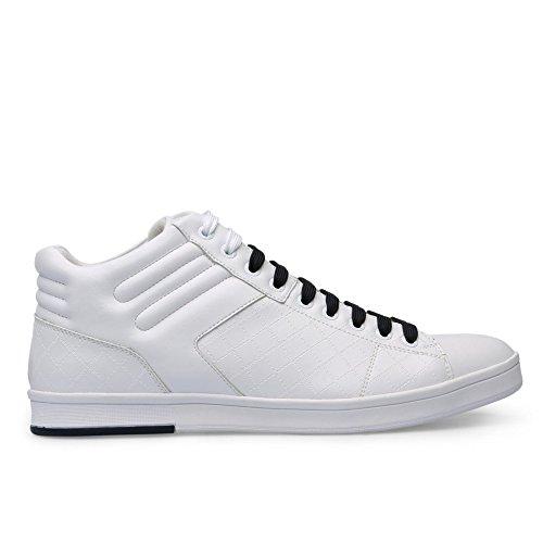 Hugo Boss scarpe verde Rayadv Midc High Top in pelle bianco Trainer 6