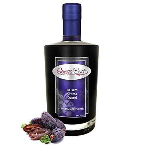 Balsamico Creme Dattel 0,5L 3% Säure mit original Crema di Aceto Balsamico di Modena IGP
