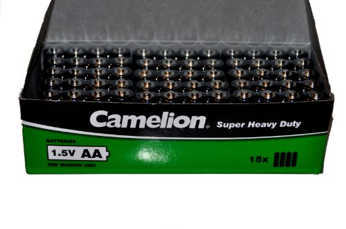 60x Camelion AA 1.5V Super Heavy Duty R6P Batterien