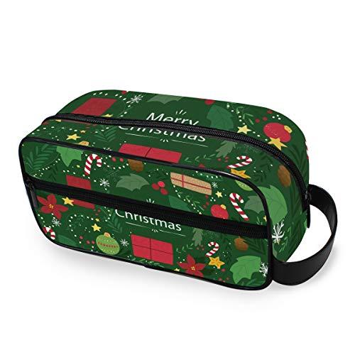 Bolsa de Maquillaje portátil con diseño de Bastones de Caramelo navideños, para Mujeres y niñas, multifunción, Bolsa de Aseo de Viaje, Bolsa de Almacenamiento, Bolsa de Lona