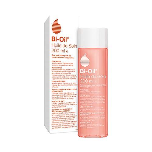 Bi-Oil Huile de Soin Pour la Peau - Soin Spécialisé pour les Vergetures, Cicatrices, Peau Sèche et Teint Irrégulier - 1 x 200 ml