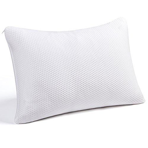 SWTMERRY Almohada de Espuma viscoelástica, Almohadas de Cama para Dormir Loft Ajustable Espesor Firme Espuma de Memoria hipoalergénica triturada (Reina)