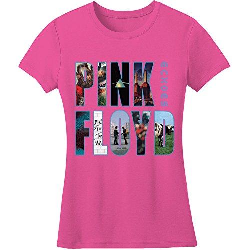 Générique Pink Floyd Echoes Album Montage T-Shirt, Rose, 38 (Taille Fabricant:Medium) Femme