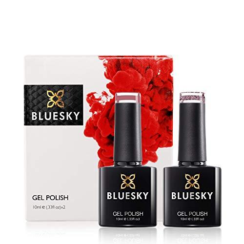 Bluesky Kit anniversaire de vernis à ongles gel UV/gel - Rose - Pack de 2
