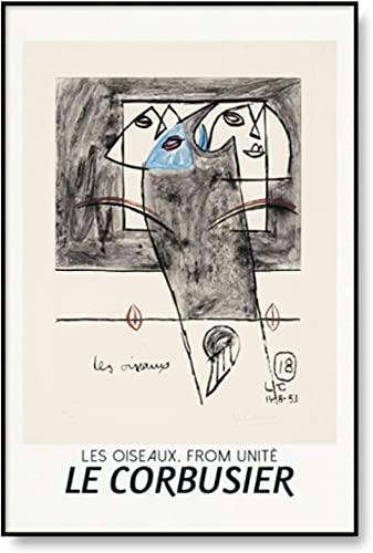 Crazystore Impresión de la Lona 30x50cm Sin Marco Le Corbusier Exposición Cartel Abstracto Medieval Cubismo Impresión Arte de la Pared Pintura de la Lona Imagen Decoración del hogar