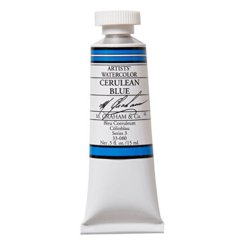 M. Graham 1/2-Ounce Tube Watercolor Paint, Cerulean Blue