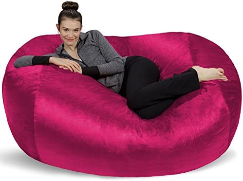 Best Sofa Sack - Plush Bean Bag Sofas with Super Soft Microsuede Cover - XL Memory Foam Stuffed Lounger C