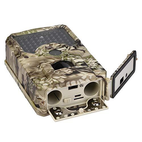 DAUERHAFT Caméra de Chasse avec Son Apparence Camouflage 15m de portée Efficace Infrarouge Capteur Premium extérieur, pour la Chasse et l'observation des Animaux