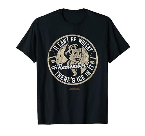Whisky Design Ice & Whisky – Das Original Sprüche Whisky T-Shirt