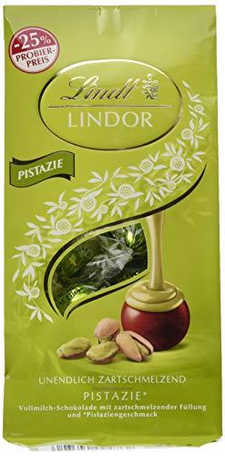 Lindt Lindor Beutel Pistazie, Promotion, Vollmilchschokolade mit zartschmelzender Füllung und Pistaziengeschmack, 6er Pack (6 x 137 g)