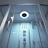 Home Deluxe - Duschtempel - Diamond BIG weiß - Maße: 190 x 100 x 220 cm - inkl. Whirlpool und Dampfsauna - 4