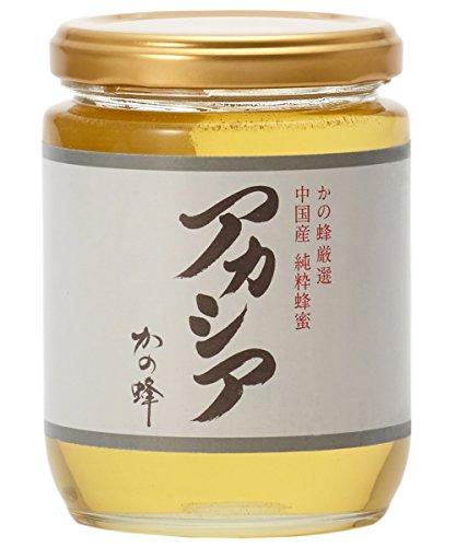 はちみつ 専門店【かの蜂】 厳選 中国産 アカシア 蜂蜜 300g 純粋 蜂蜜 (瓶容器)