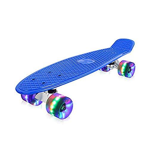 LITINGT Tabla de Skate Completa de 22 x 6 Pulgadas, Doble Patada, 9 Capas, Madera de Arce, Trucos para Adultos, patineta para Principiantes, Regalo de cumpleaños para niños Adultos, patineta de 5 añ