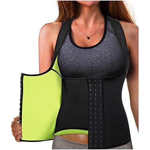 Gotoly Waist Trainer Corset Hot Neoprene Sweat Vest Weight Loss Body Shaper Workout Tank Tops Women