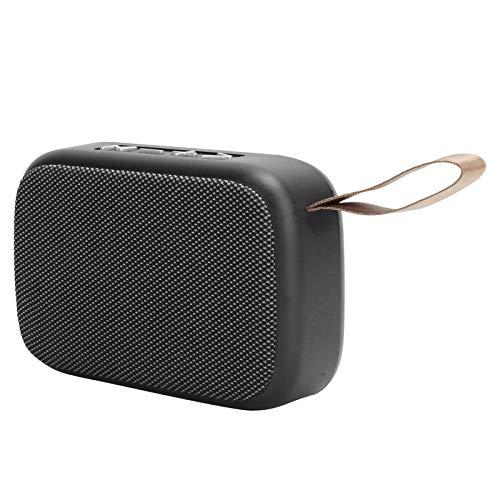 Vbestlife Altavoz Bluetooth, Subwoofer estéreo inalámbrico, Mini Reproductor de música USB portátil, con Radio FM, Llamadas Manos Libres, Interior/Exterior(marrón)