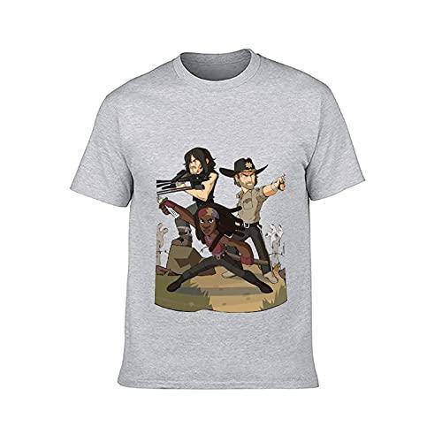 Tシャツ メンズ ウォーキング・デッド 夏服 半袖 綿100% 丸襟 通気性 快適 Tシャツ レディース コットン 人気 おしゃれ ファッション 男女兼用