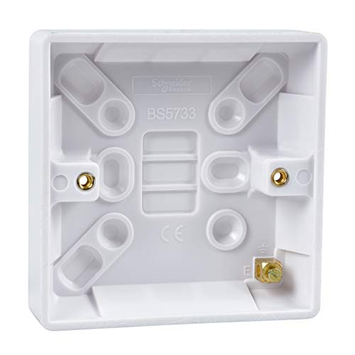 Schneider Electric GU9116 Ultimate White Moulded Pattress 1 Gang 1 Gang 16 mm