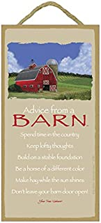 """SJT. Enterprises, INC. Advice from a Barn / 5"""" x 10"""" Wood Plaque, Sign - Licensed from Your True Nature (SJT67280)"""