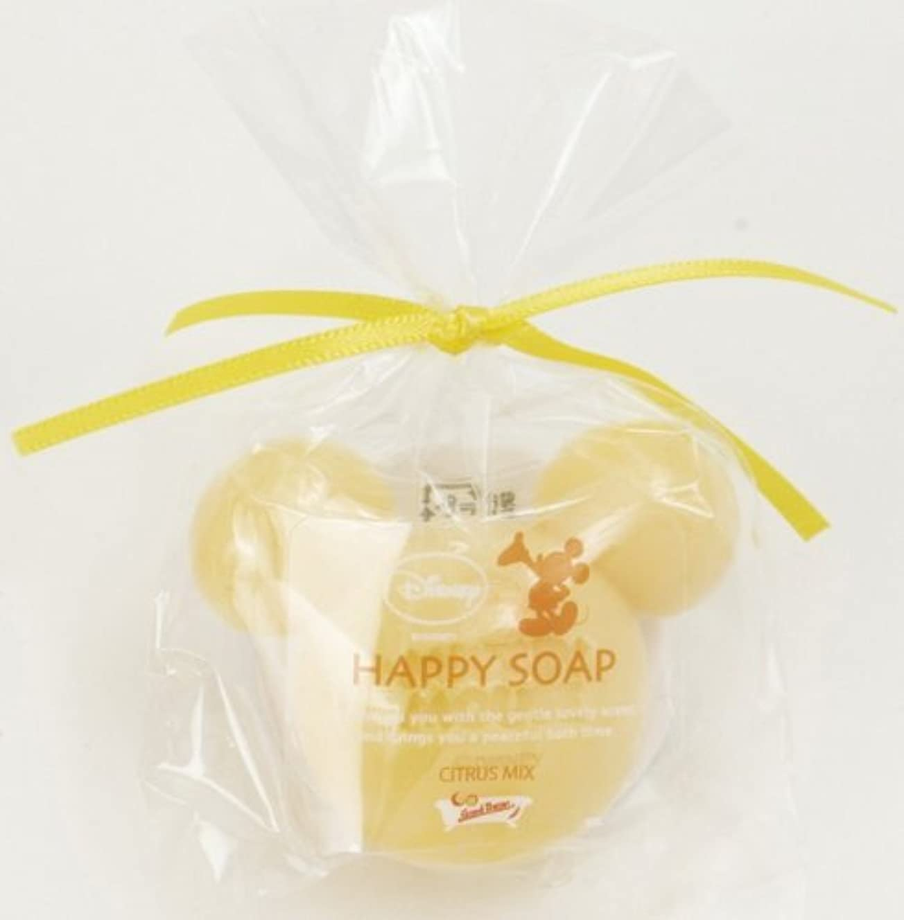 韻シルク元気ミッキーマウスのプチギフト ハッピーソープ イエロー(オレンジの香り)
