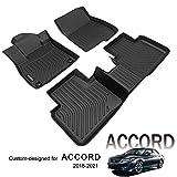 KELCSEECS Customized Fit Floor Mats for Honda Accord 2018-2021 Accessories All Weather Guard Car Mats Black Full Set 2 Row…
