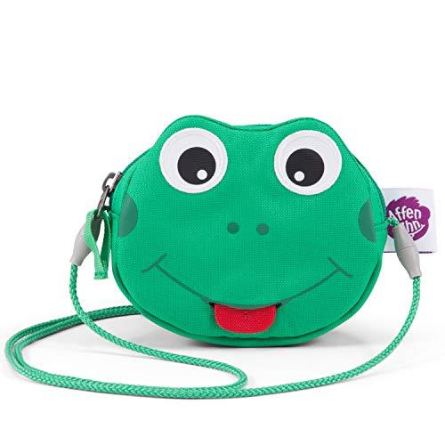 Affenzahn Kinderportemonnaie - Bauchtasche für Kinder im Kindergarten - Frosch - Grün