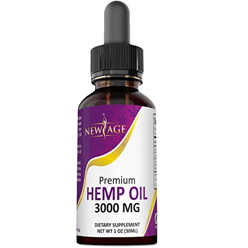Hemp Oil Extract for Pain, Anxiety & Stress Relief - 3000mg of Pure Hemp Extract - Grown & Made in USA - 100% Natural Hemp Drops - Helps with Sleep, Skin & Hair.
