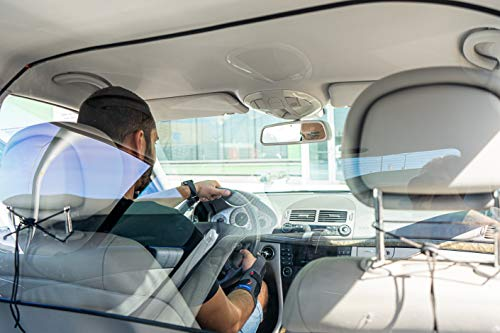 Sneeze Guard Car Rideshare Partition Protective Car Shield for Rideshare Drivers and Professional Car and Transportation Services Made of Polycarbonate Plexi Glass (one fit)