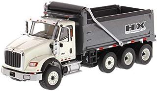 International HX620 Dump Truck White with Gun Metal Grey Bed 1/50 Diecast Model by Diecast Masters 71013