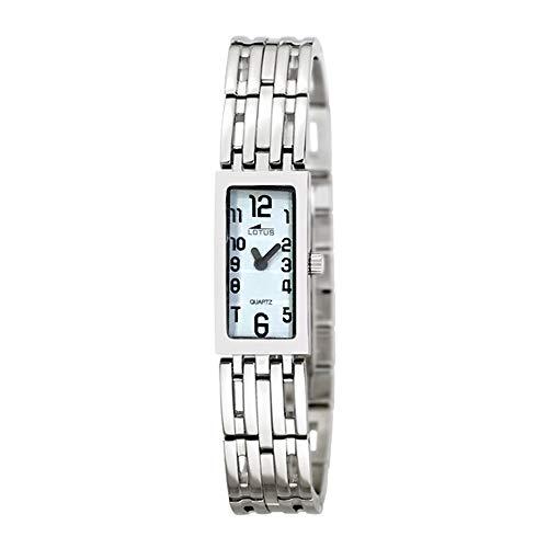 Reloj Lotus Referencia 15366/8 de Mujer, Rectangular. con Caja y Cadena de Acero Inoxidable.