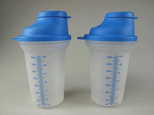 TUPPERWARE Backen Mix-Fix klein (2) 350 ml blau Shaky Küchenhelfer Shake It