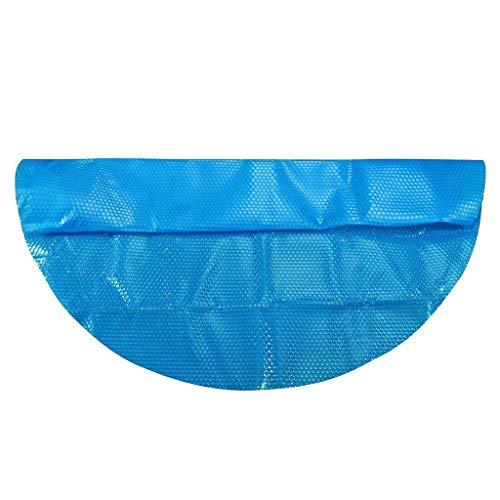 FNKDOR Poolheizung Solarplane Poolabdeckung Rund Solarabdeckung Pool Solarfolie Vinyl 4ft/5ft/6ft/8ft/10ft/12ft/15ft (365X365 cm, Blau)
