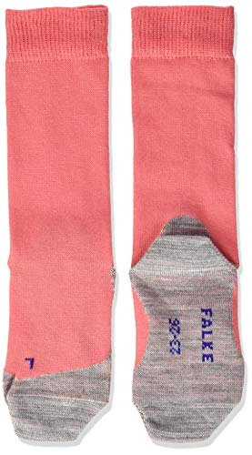 FALKE Kinder Socken Active Sunny Days - Baumwollmischung, 1 Paar, rot (coral 8884), 31-34
