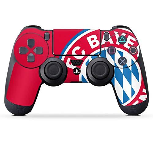 DeinDesign Skin kompatibel mit Sony Playstation 4 PS4 Controller Folie Sticker FC Bayern München Offizielles Lizenzprodukt FCB
