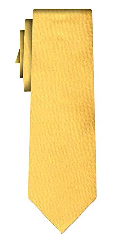 Cravate unie solid yellow, textured