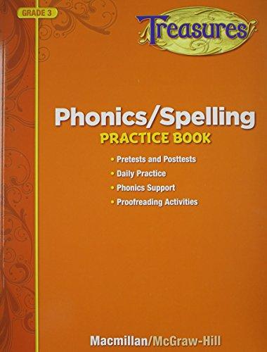 Treasures Phonics/Spelling Practice Book, Grade 3