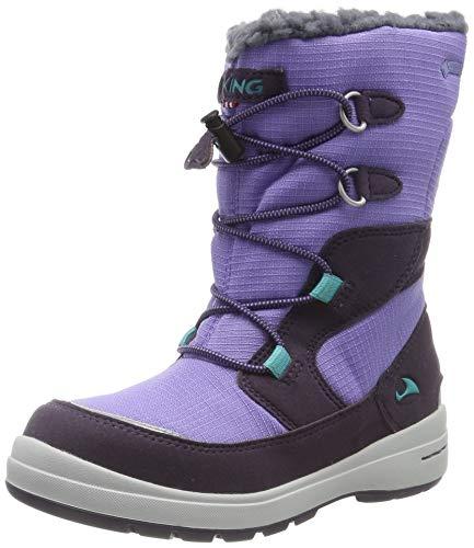 Viking Totak GTX, Botas de Nieve Unisex Niños, Morado (Aubergine/Purple 8316), 21 EU