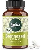Brennnessel Extrakt Bio 120 Kapseln - Bio-Brennnesselextrakt - hochdosiert - vegan - Abgefüllt und kontrolliert in Deutschland