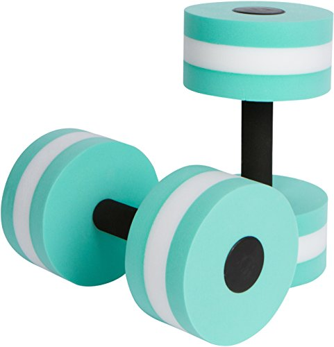 Trademark Innovations Aquatic Exercise Dumbells - Set of 2 Foam - for Water Aerobics - (Teal)