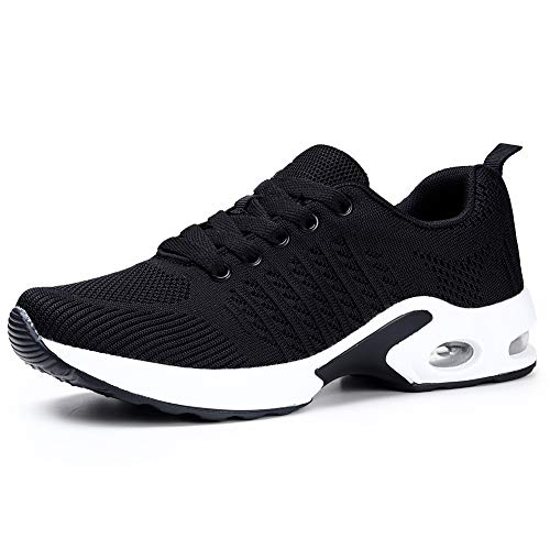 Women Air Cushion Running Shoes Lightweight Sport Lace Up Athletic Walking Shoes 5.5 M US