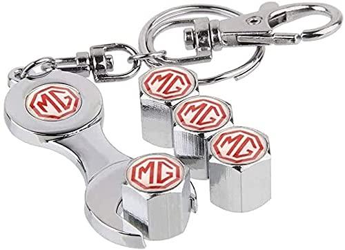 Coche Neumático Tapas Válvulas para MG Sign for MG 3 5 6 7 TF ZR Morris 3 SUV, Antirrobo Antipolvo Resistente Agua Decoración Accesorio