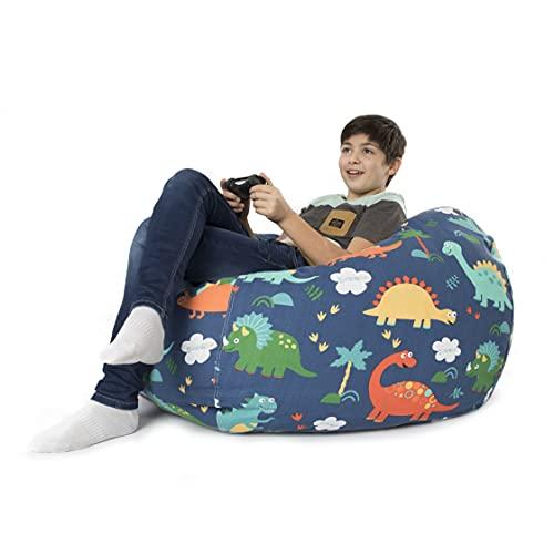 BANBALOO- Bolsa Puff XL para guardar juguetes de peluche-Saco almacenamiento para cojines y mantas convertible en sillón para niños- Organizador infantil.