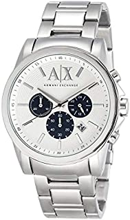 Armani Exchange Men's Chronograph Silver-Tone Stainless Steel Watch AX2500
