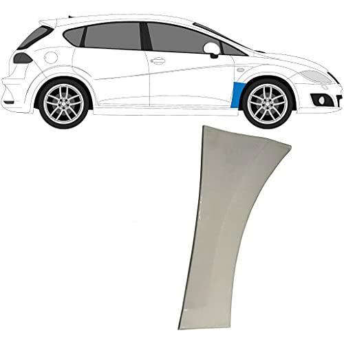 Panel de reparación de ala delantera adecuado para Seat León / 2005-2012 / 1P1 / Acero sin pintar, lado derecho (lado del conductor/fuera del aire/O/S) / Deshazte del óxido en tu coche