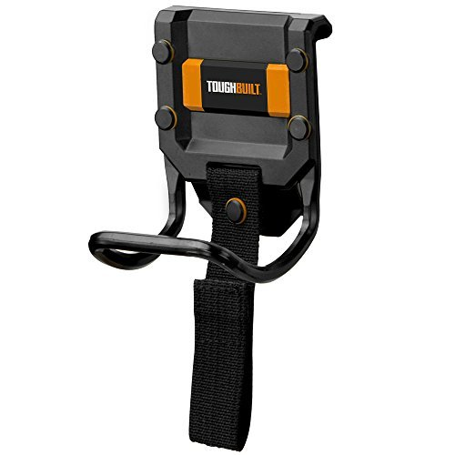 ToughBuilt - Modular Hammer Loop | Durable Hammer Holder/Holster/Catch Clips on any Belt or Pocket, Extreme-duty Steel Loop/Metal Ring, Unique Power Cord Mgmt, Heavy-duty Construction (TB-52)