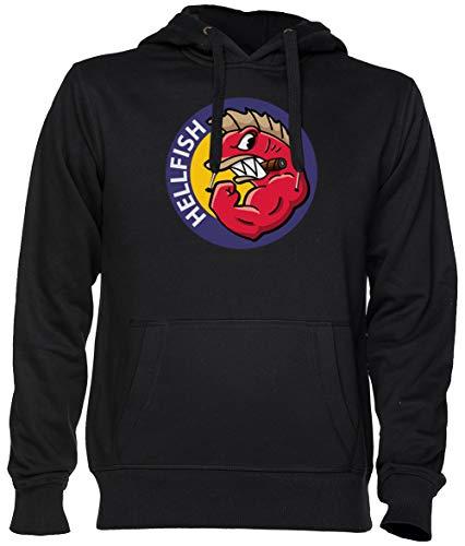 Hellfish Negro Jersey Sudadera con Capucha Unisexo Hombre Mujer Tamaño XS Black Unisex Hoodie Size...