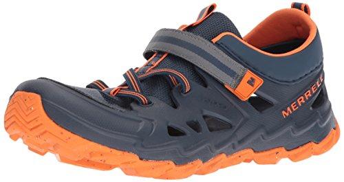 Merrell Kids' Hydro 2.0 Sandal, Blue/Citron, 1 Medium US Little Kid