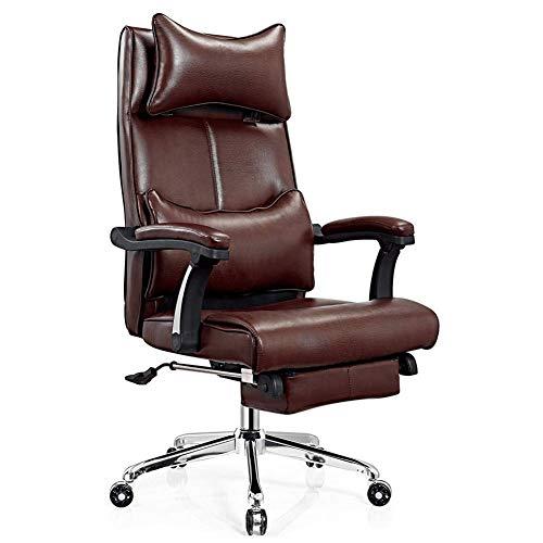 Executive Bürostuhl, ergonomisch gestalteter Home-Office-Computer, rotierender Regiestuhl, übergroßes PU-Leder-Coffee